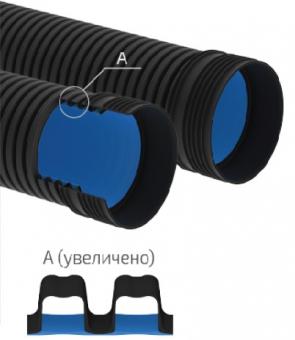 Труба гофрированная Корсис ПРО двухслойная SN8, SN16