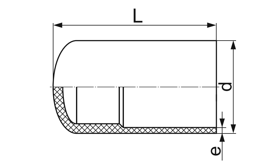 ЗАГЛУШКА ЛИТАЯ (СПИГОТ) ПЭ 100 D280мм.