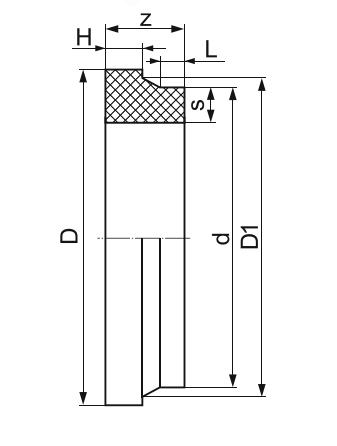 ВТУЛКА ПОД ФЛАНЕЦ ЛИТАЯ (КОРОТКАЯ) ПЭ 100 D355мм.SDR-17