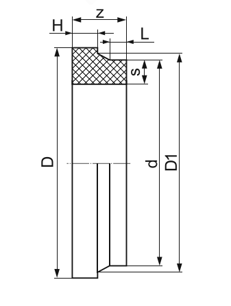 ВТУЛКА ПОД ФЛАНЕЦ ЛИТАЯ (ПОЛУДЛИННАЯ) ПЭ 100 D800мм.SDR-17