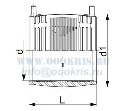 Муфта электросварная ПЭ100 д.110