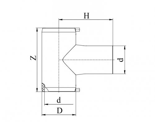 Тройник электросварной 90°ПЭ100 д.32 Georg Fischer и RADIUS Systems