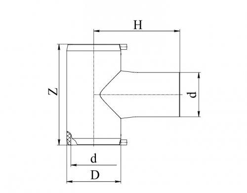 Тройник электросварной 90°ПЭ100 д.75 Georg Fischer и RADIUS Systems