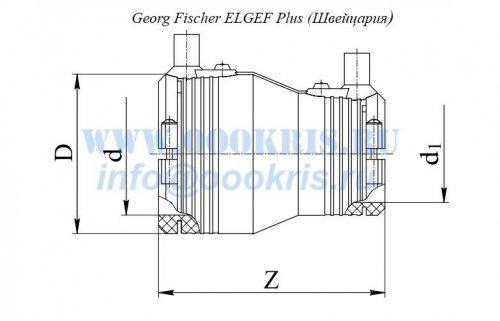Переход редукционный электросварной ПЭ100 д.32х25 Georg Fischer и RADIUS Systems