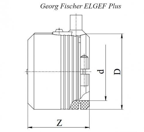 Заглушка электросварная ПЭ100 d63 Georg Fischer ELGEF Plus