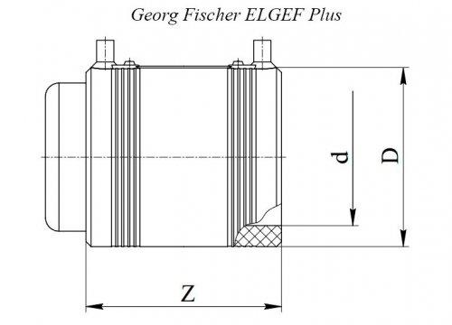 Заглушка электросварная ПЭ100 d90 Georg Fischer ELGEF Plus