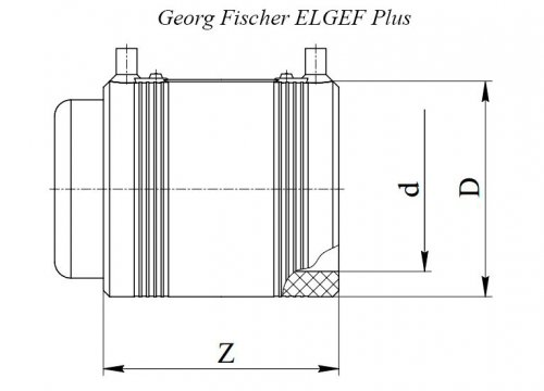 Заглушка электросварная ПЭ100 d200 Georg Fischer ELGEF Plus