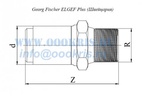 "Переход ПЭ/Латунь ПЭ100 d32*1 1/4"" Georg Fischer ELGEF Plus"